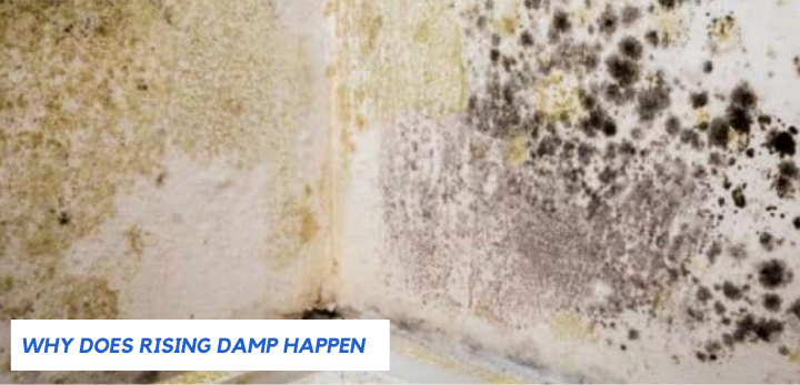why does rising damp happen?